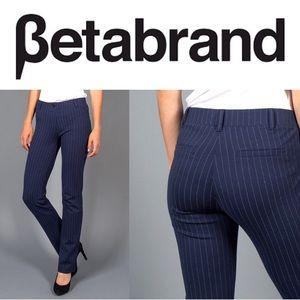 BETABRAND | Dress Pant Yoga Bootcut Navy Pant L